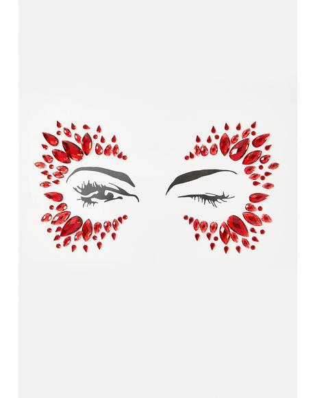 Red Diamond Face Jewel