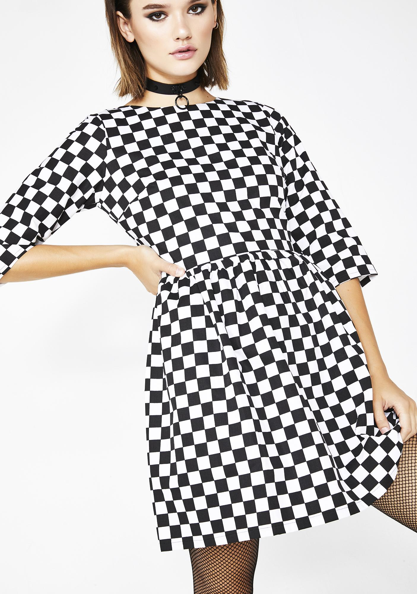 07a70f2888802 Checkered Skater Dress | Dolls Kill