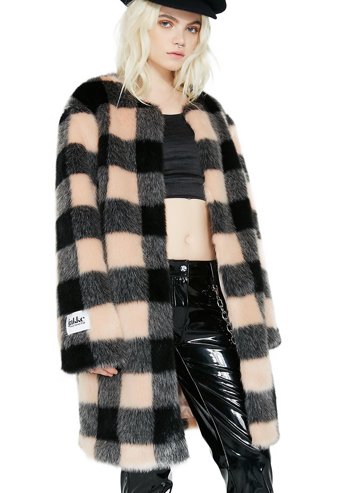 Jakke Check Chloe Coat