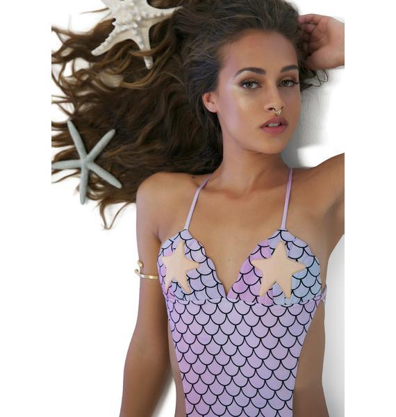 Margarita Mermaid Anemone Seashell Monokini