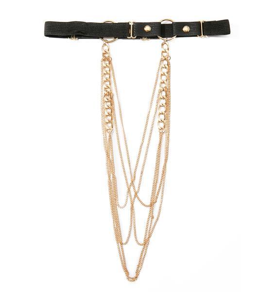 Apollonia Chain Thigh Harness