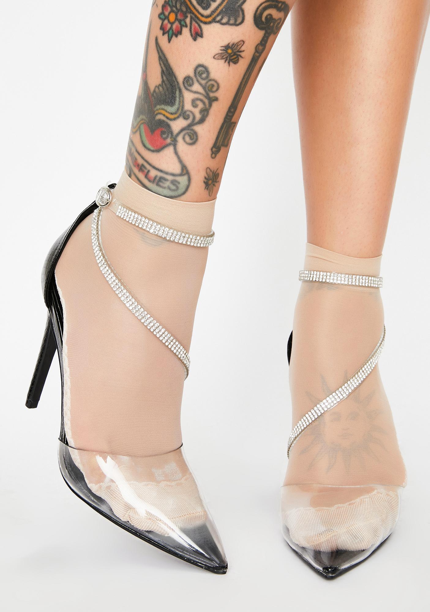 AZALEA WANG Gimme More Rhinestone Heels