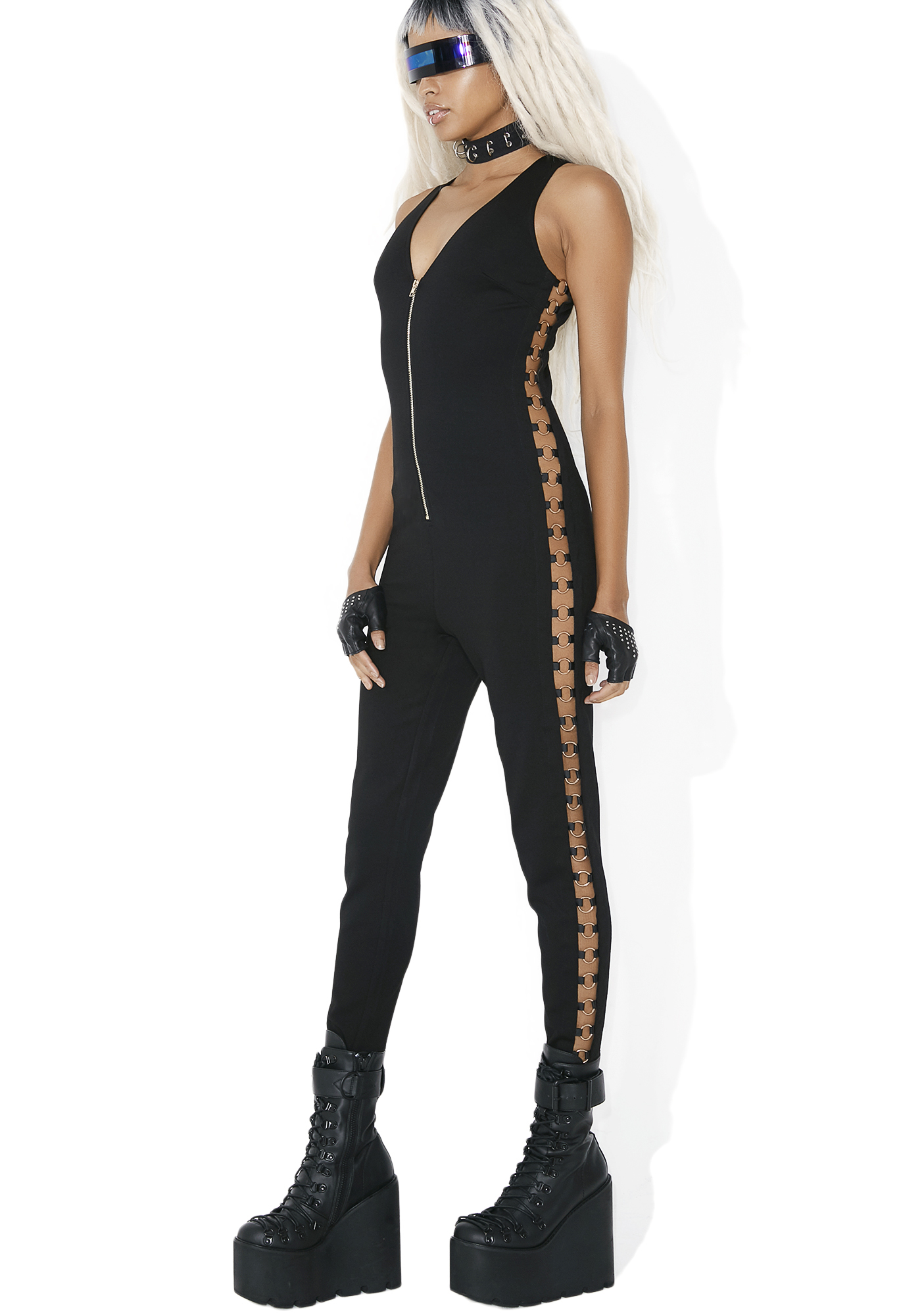 O-Ring Side Black Catsuit