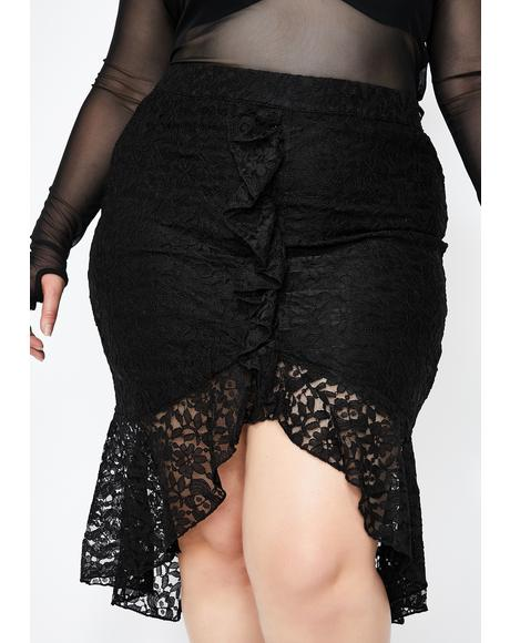 Devious Daydream Lace Skirt