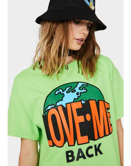 Lime Love Me Back Graphic Tee