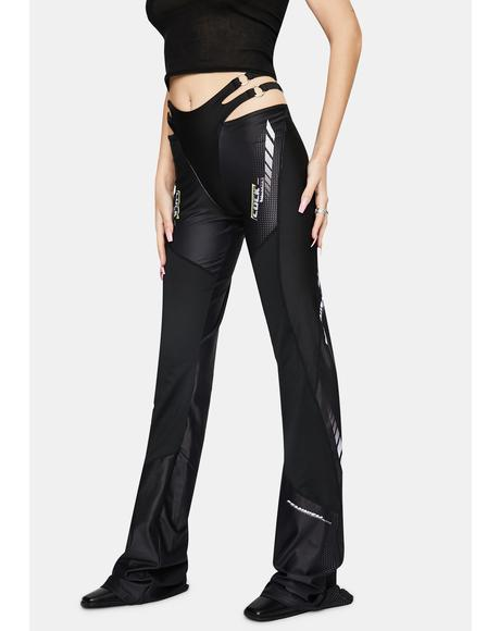 Speed Racer Cut-Out Flare Pants