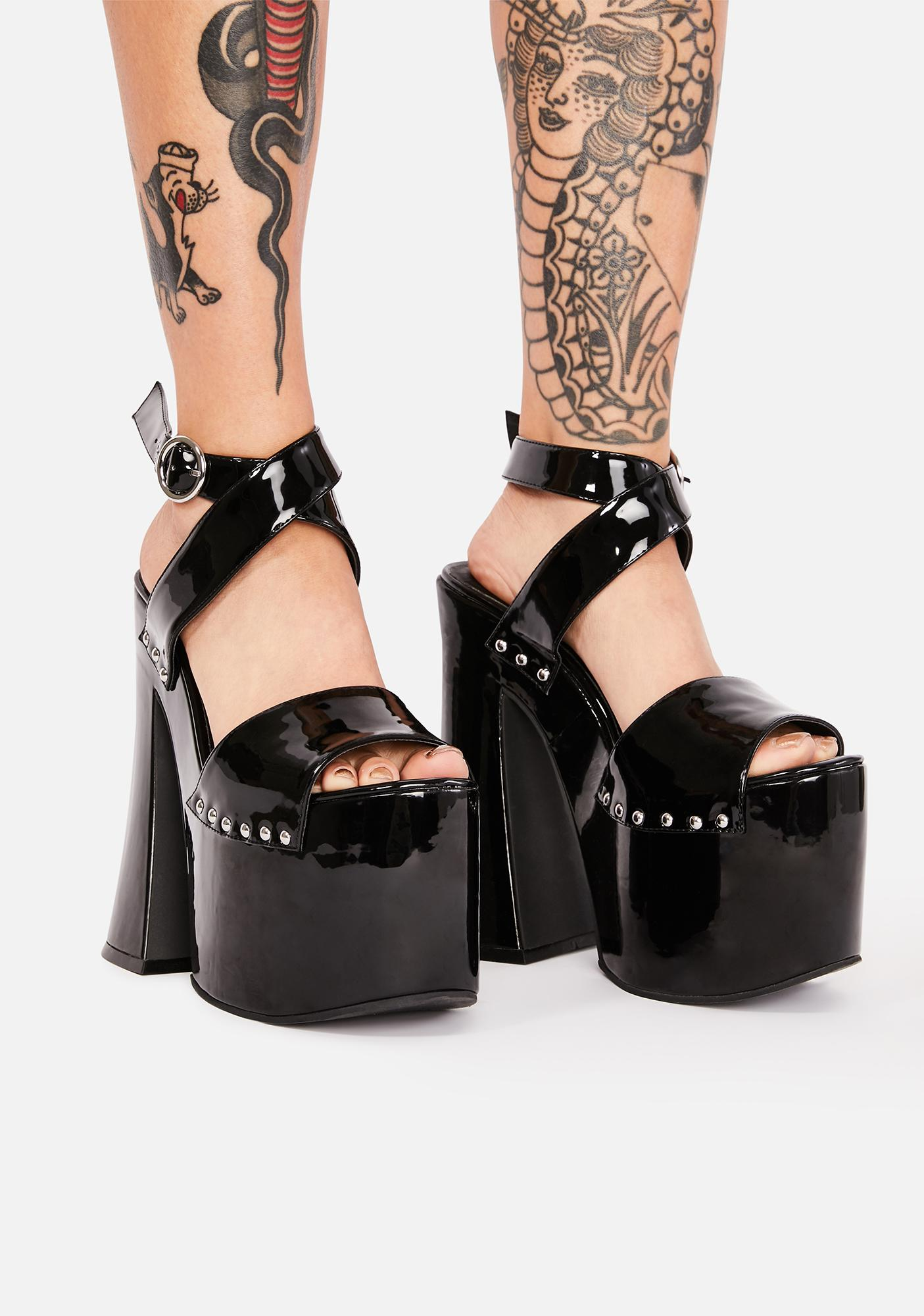 Current Mood Devil's Dame Platform Heels