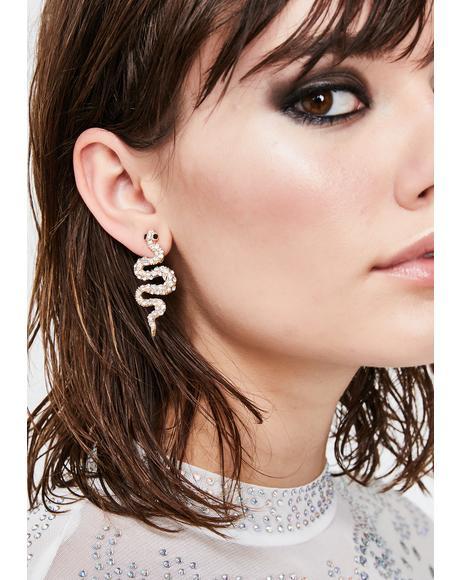 Posh Poison Snake Earrings