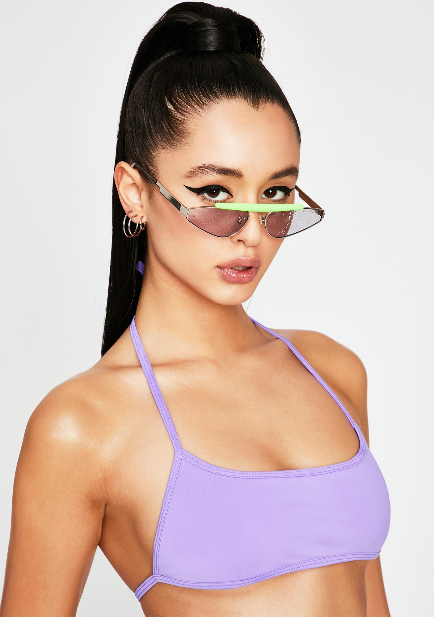 OH SHIT Purple Tyra II Bikini Top