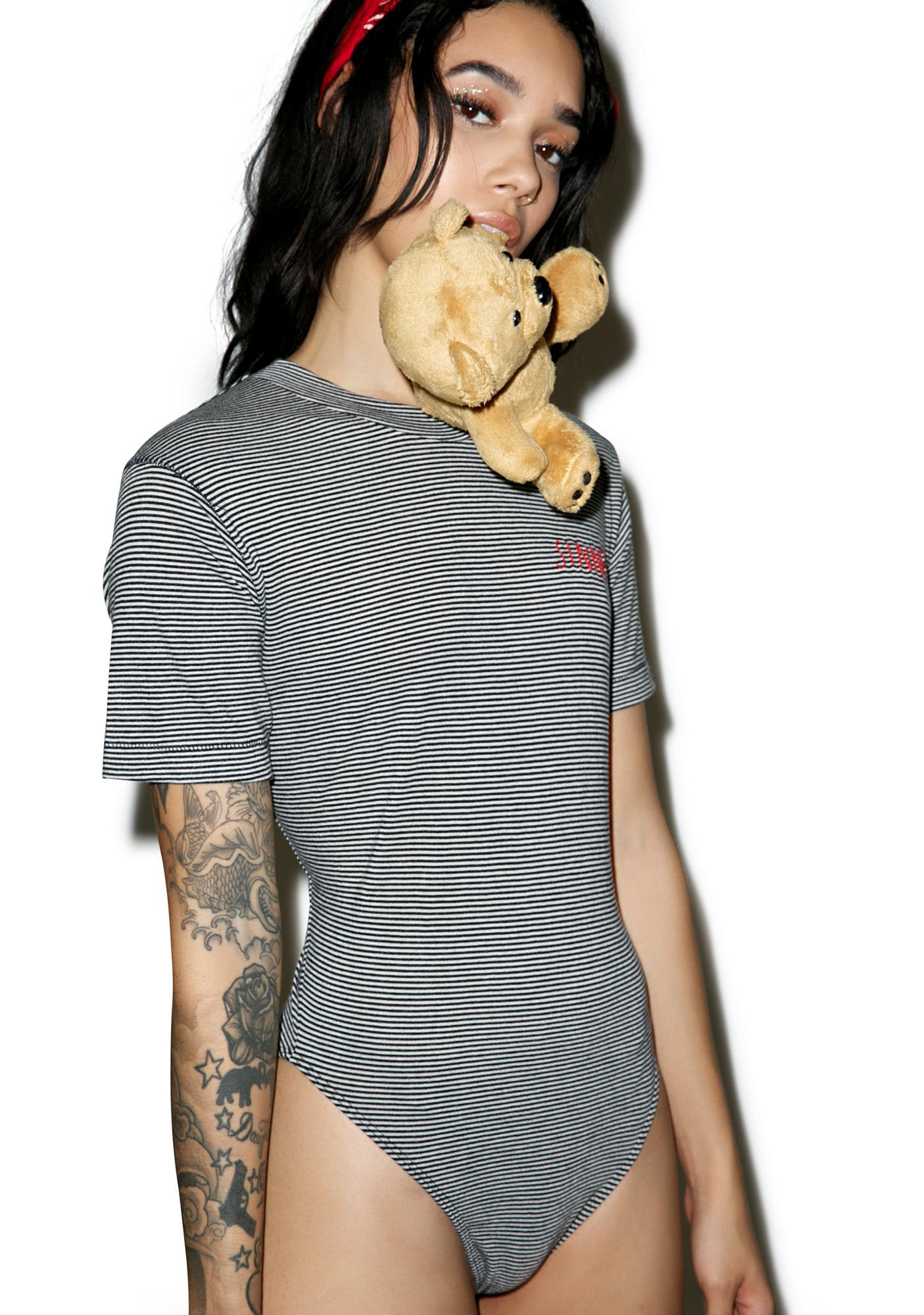 Wildfox Couture Sinner Embroidery Legend Tee Bodysuit