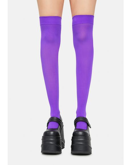 Violet Angel Of Mine Sheer Thigh Highs