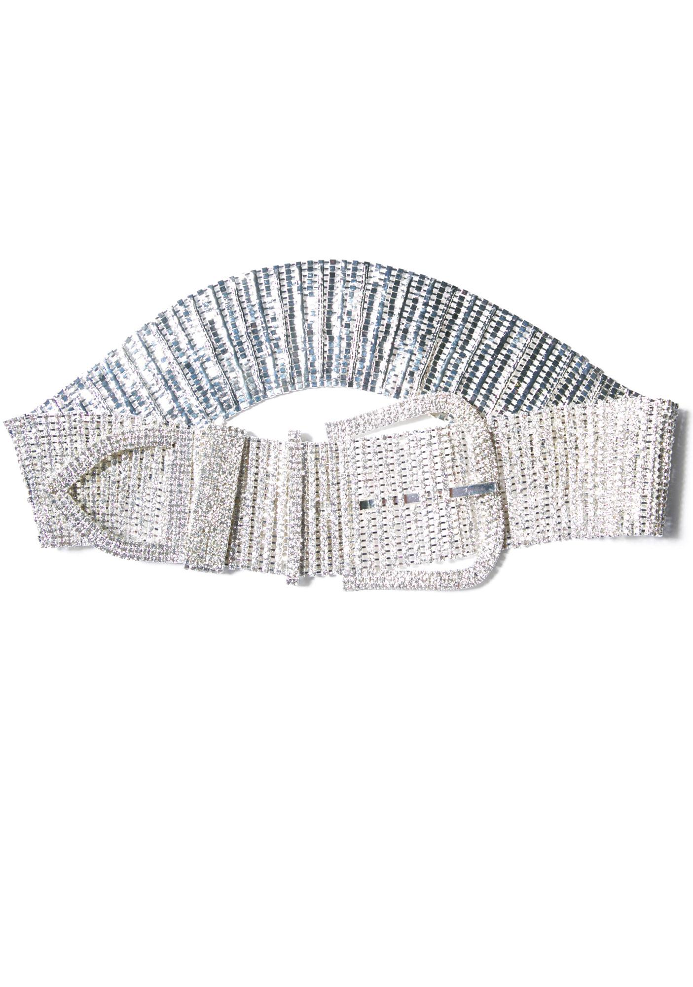 Showgurl Rhinestone Belt w/ Buckle
