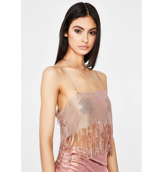 Rose Simpler Life Chain Crop Top