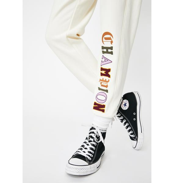 Champion Chalk Old English Reverse Weave Joggers