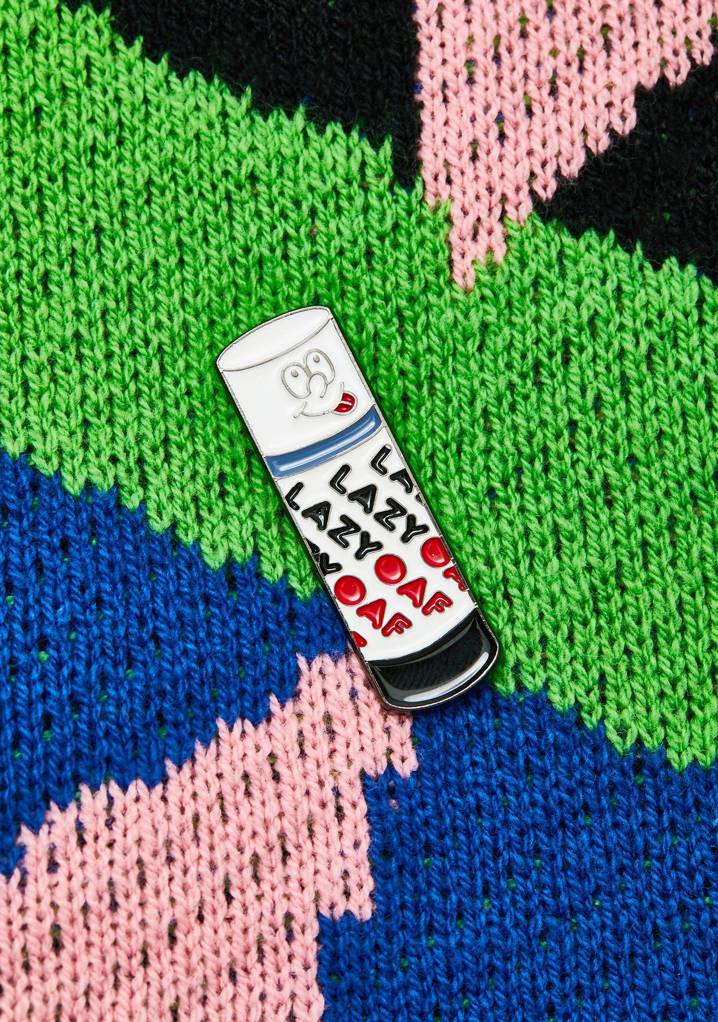 Lazy Oaf Sticky Enamel Pin