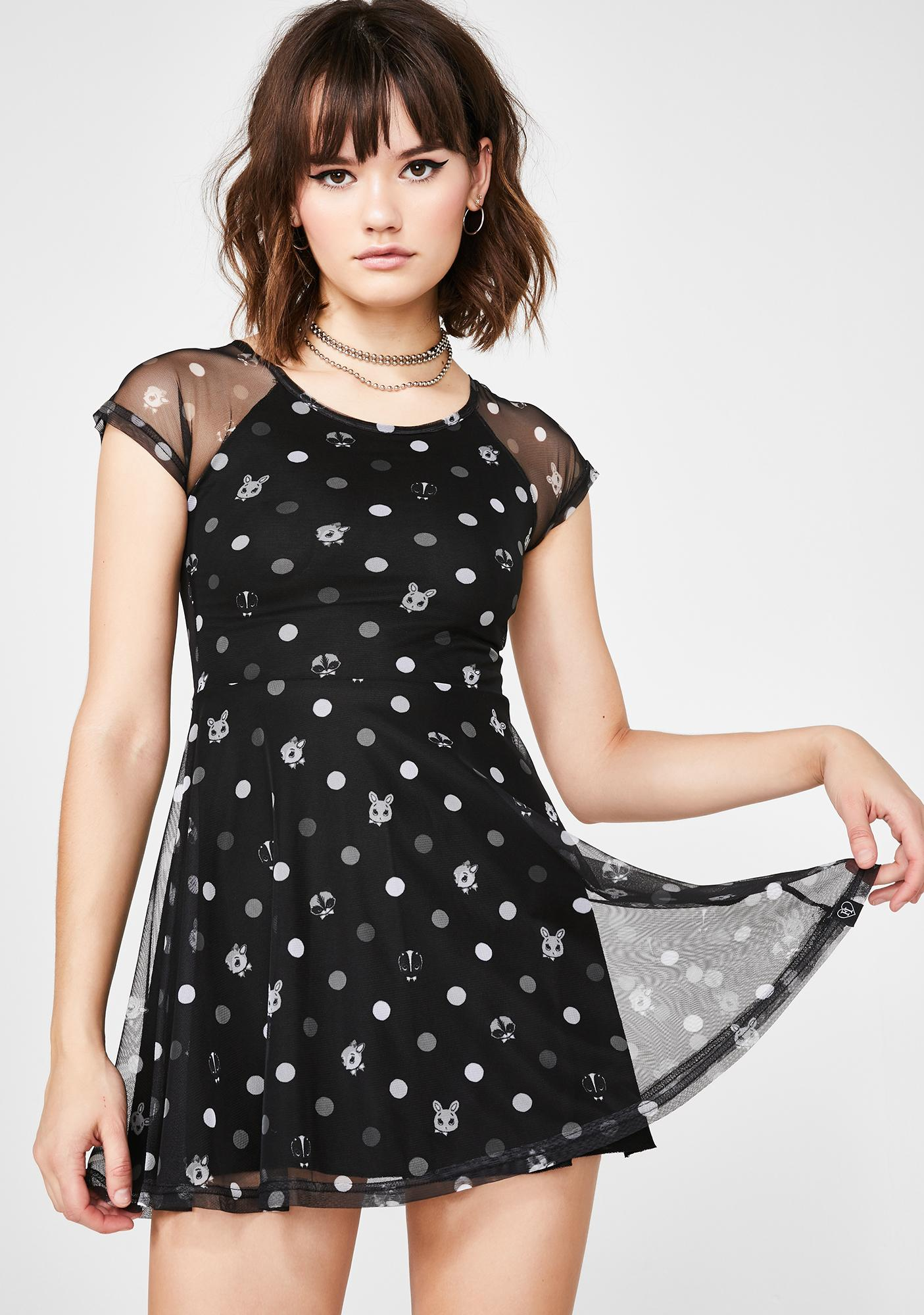 Fearless Illustration Odd One Out Skater Dress  97498dce9