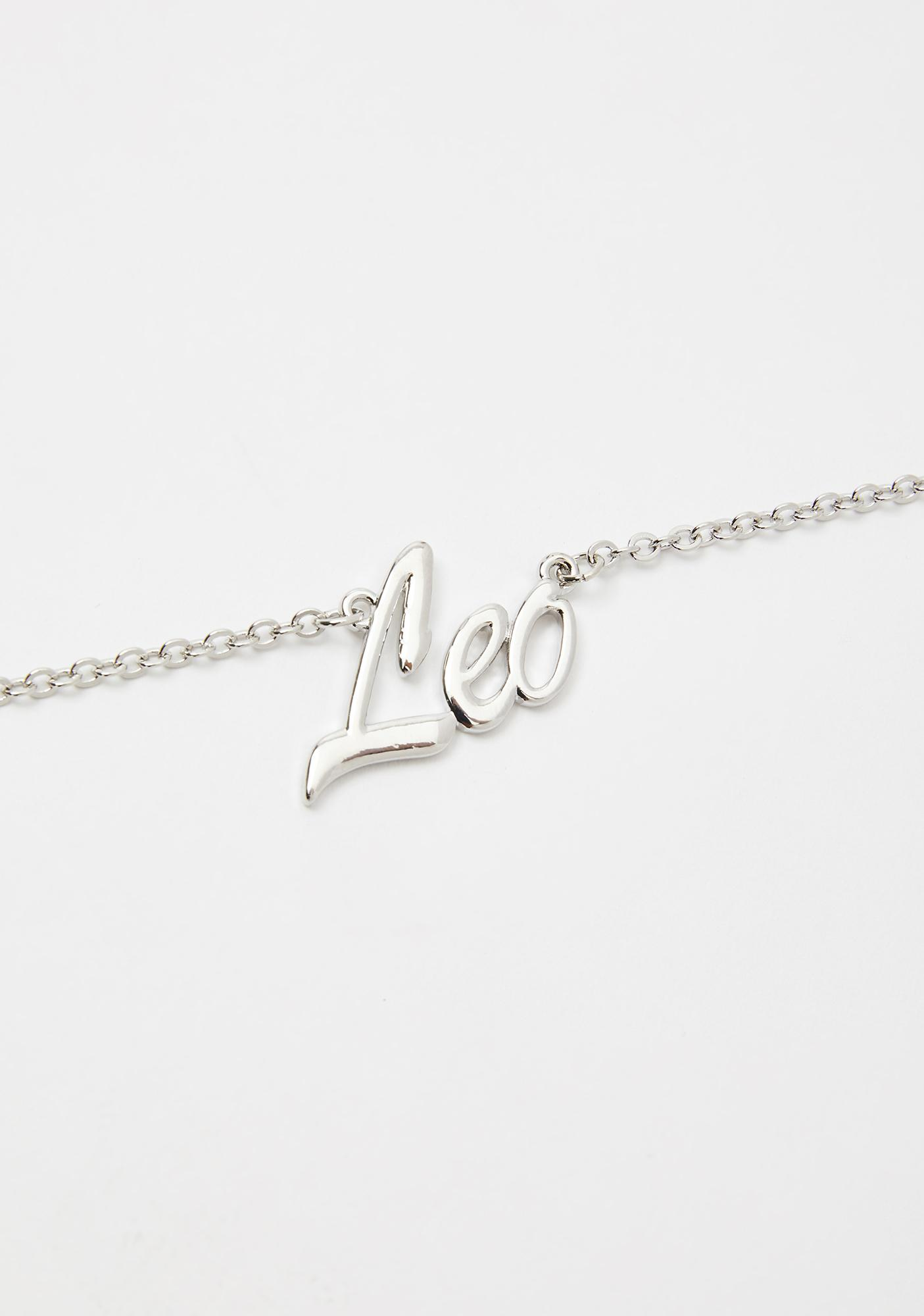 Legit Leo Nameplate Necklace