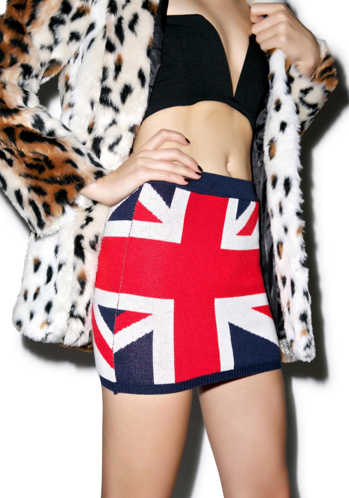 Union Jack Knit Skirt