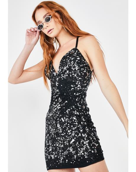 Impure Mouth Drop Sequin Dress