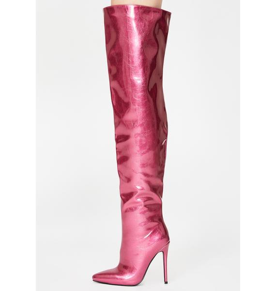 AZALEA WANG Priscilla Thigh High Boots