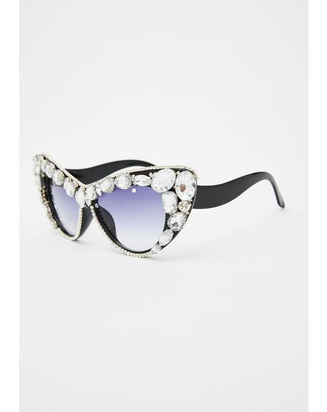 Rhinestone Royalty Cat Eye Sunglasses