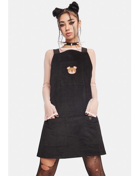 Teddy Pinafore Dress