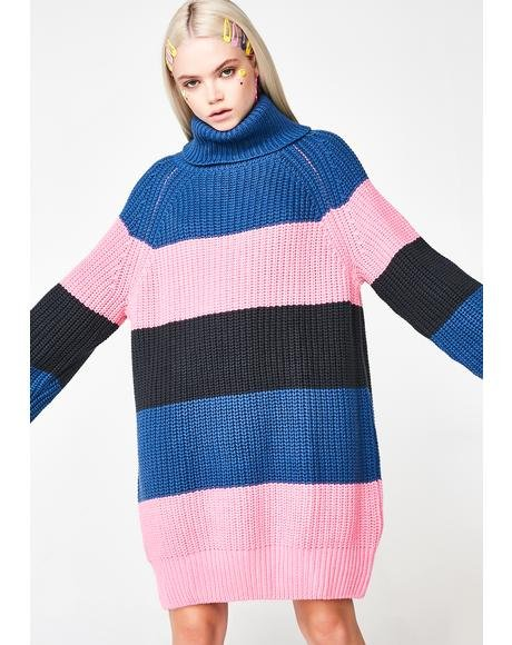 Roll Neck Stripey Jumper