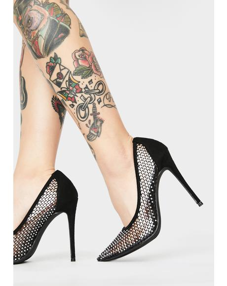 Chic Surveillance Stiletto Heels