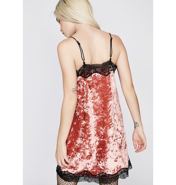 Under My Spell Velvet Slip Dress