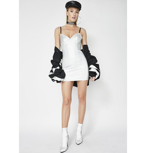 Poster Grl Never Artificial Reflective Dress