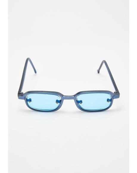 Aqua Rivet Classic Sunglasses