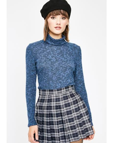 Berry Word Up Turtleneck Sweater