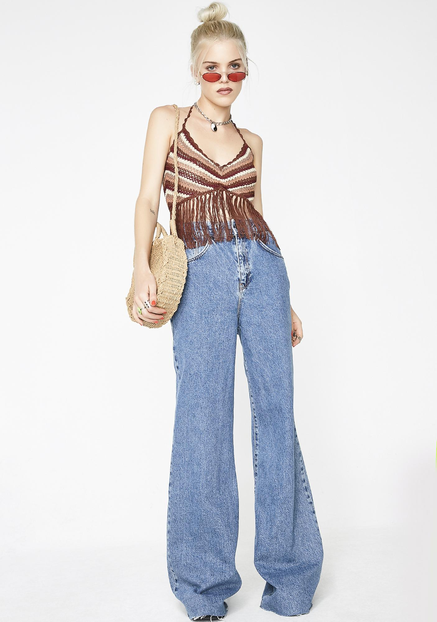 Contact High Fringe Top