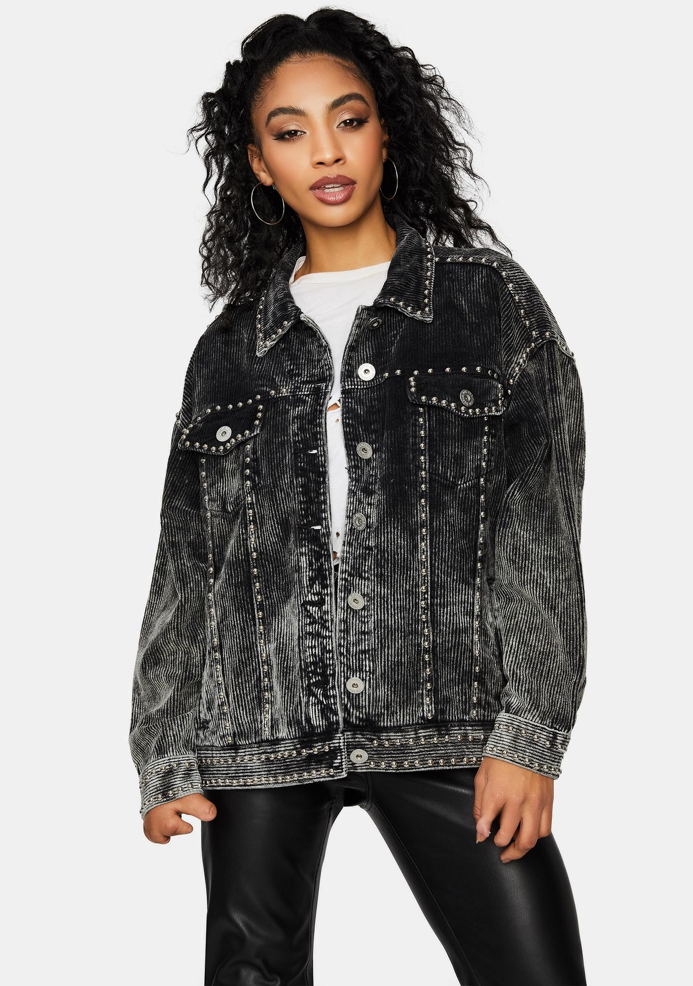 Night Lasso The Sun Studded Corduroy Jacket