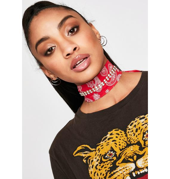 Hot Country Roads Bandanna Choker