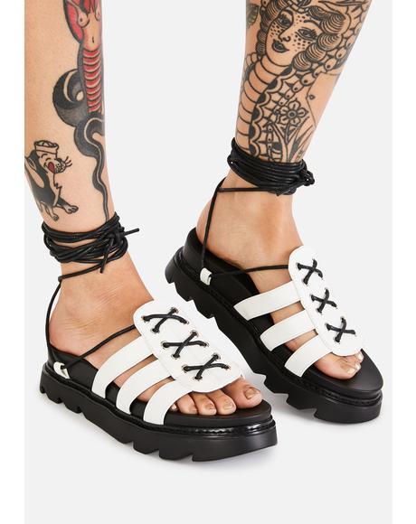 Time's Up Gladiator Sandals