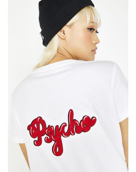 Psycho Embroidered Tee