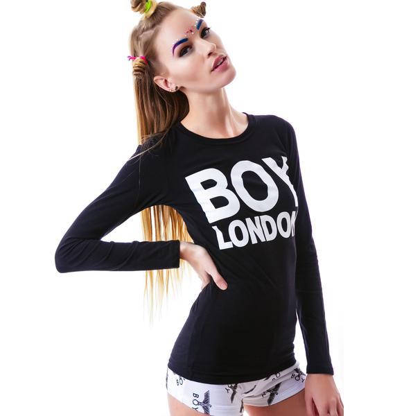 BOY London BOY London Slim Fit Long Sleeve Top