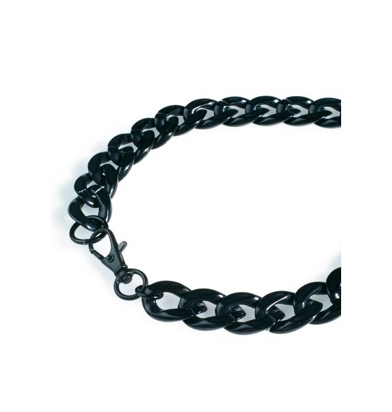 The Candy Kids Black Plastic Binky Choker