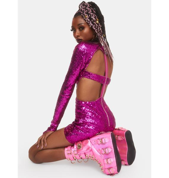 Club Exx Starry Romance Sequin Dress