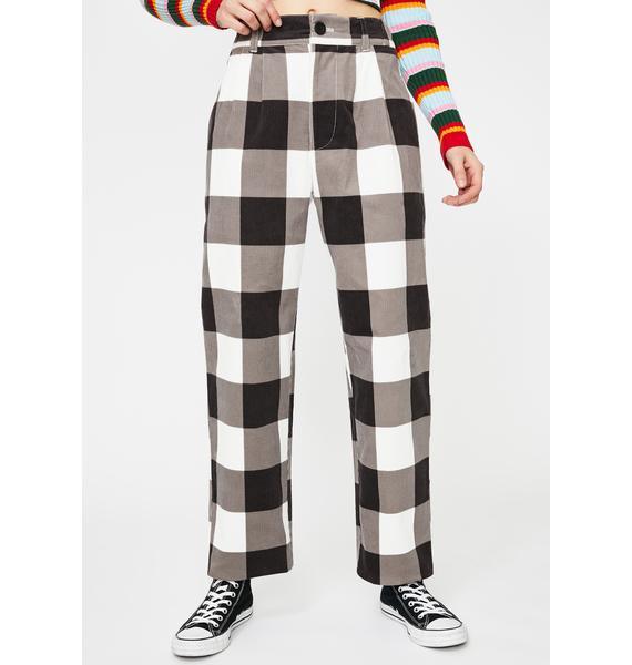 Lazy Oaf Allotment Check Corduroy Pants
