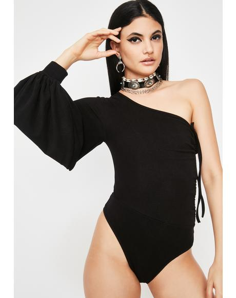 High Fashion One Sleeve Bodysuit