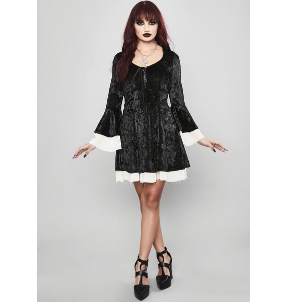 Widow Ivory Tempting Enchantress Velvet Dress