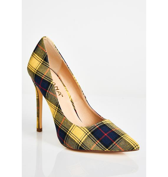 Bodak Principle's Office Plaid Pumps