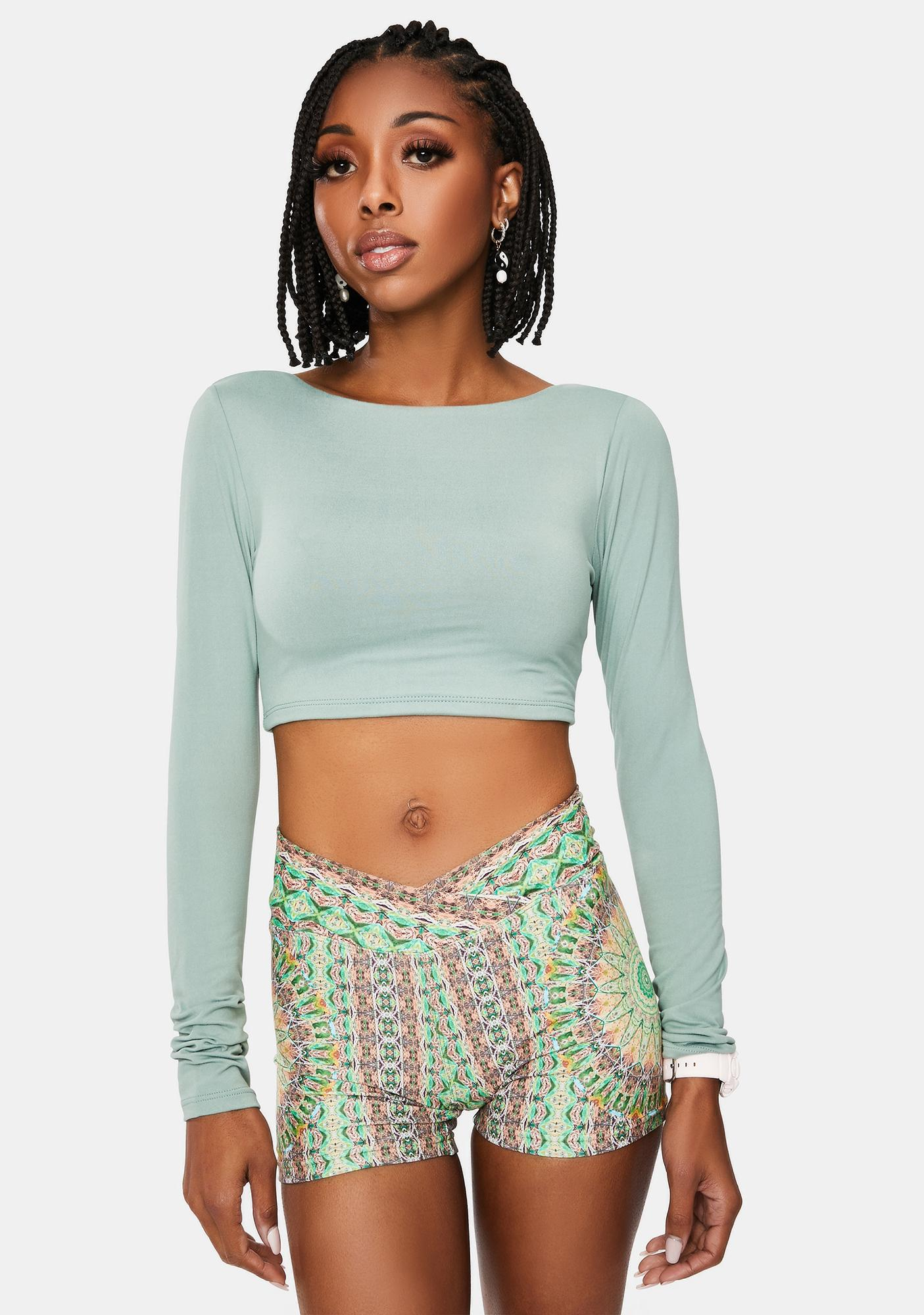From The Jump Lace Up Crop Top