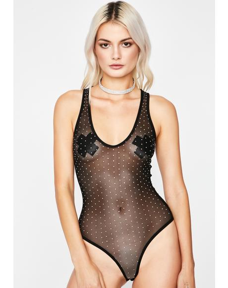 Diamond Dilemma Mesh Bodysuit