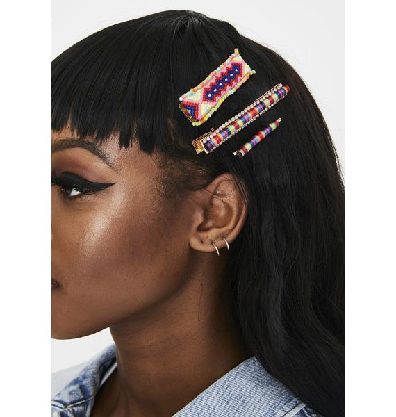 Camp Crush Hair Clip Set