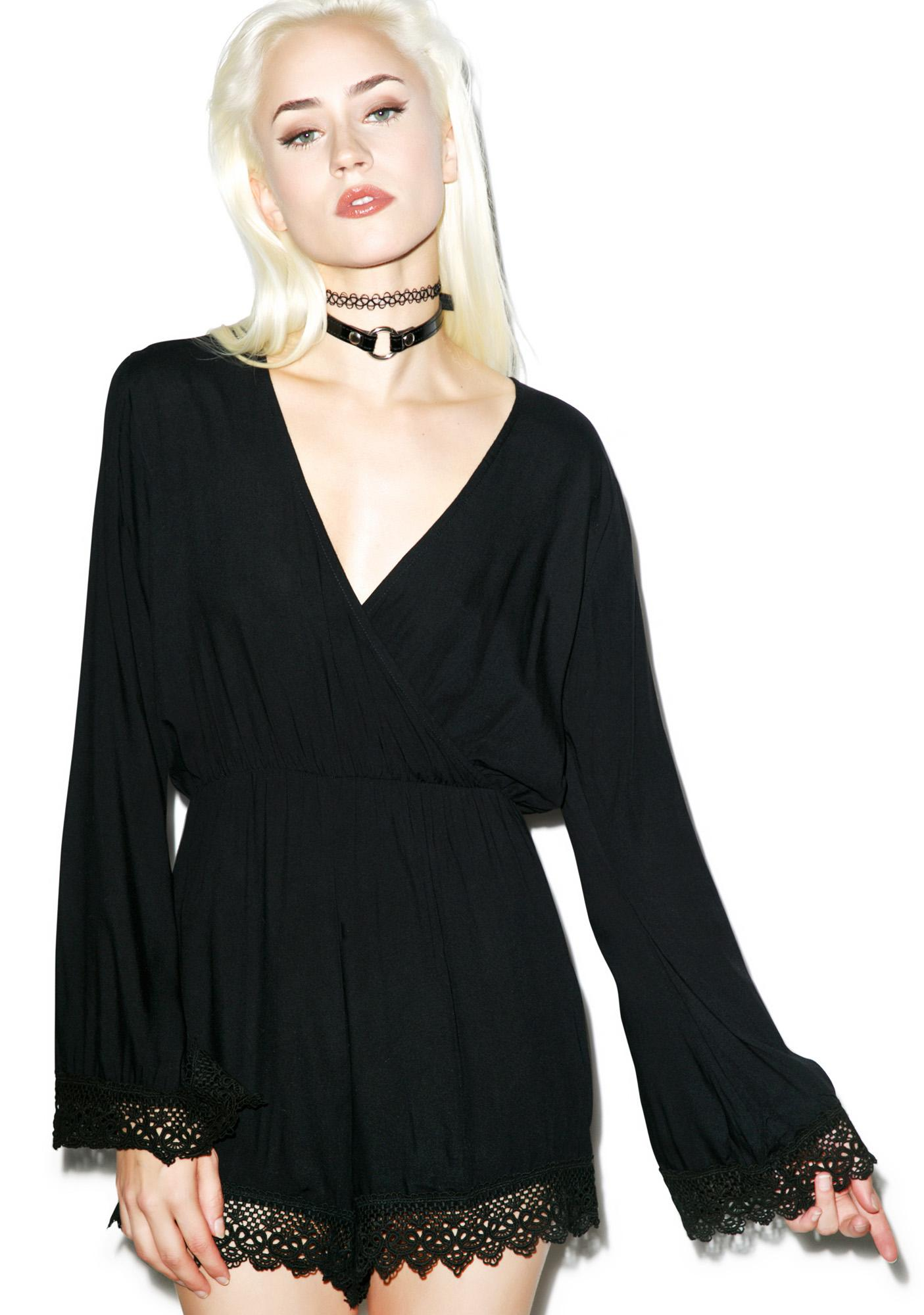 Motel Feather Playsuit