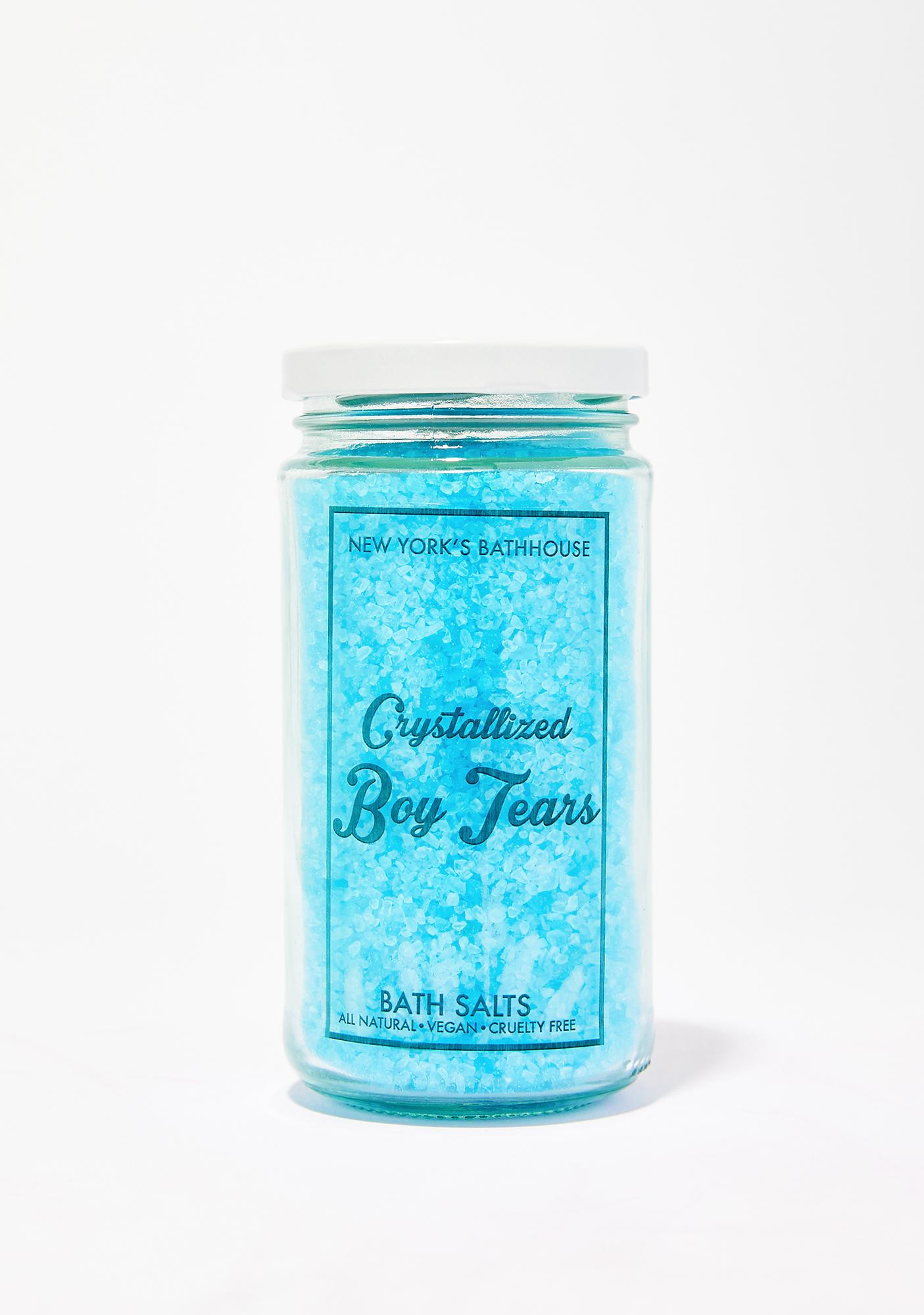 Crystallized Boy Tears Bath Salts by New Yorks Bathhouse