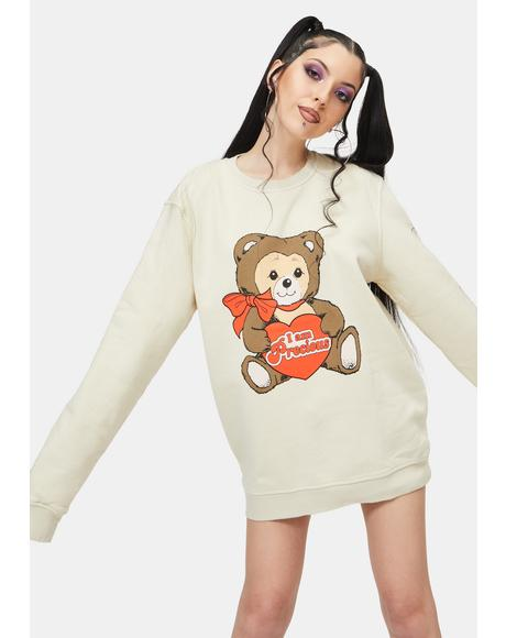 Precious Teddy Graphic Crewneck